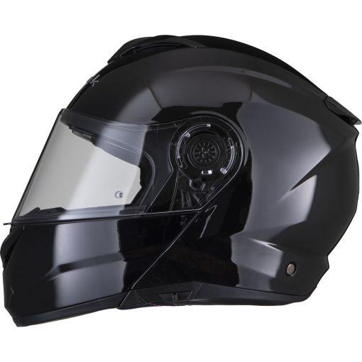 Casca moto modulara Black Optimus II - negru lucios