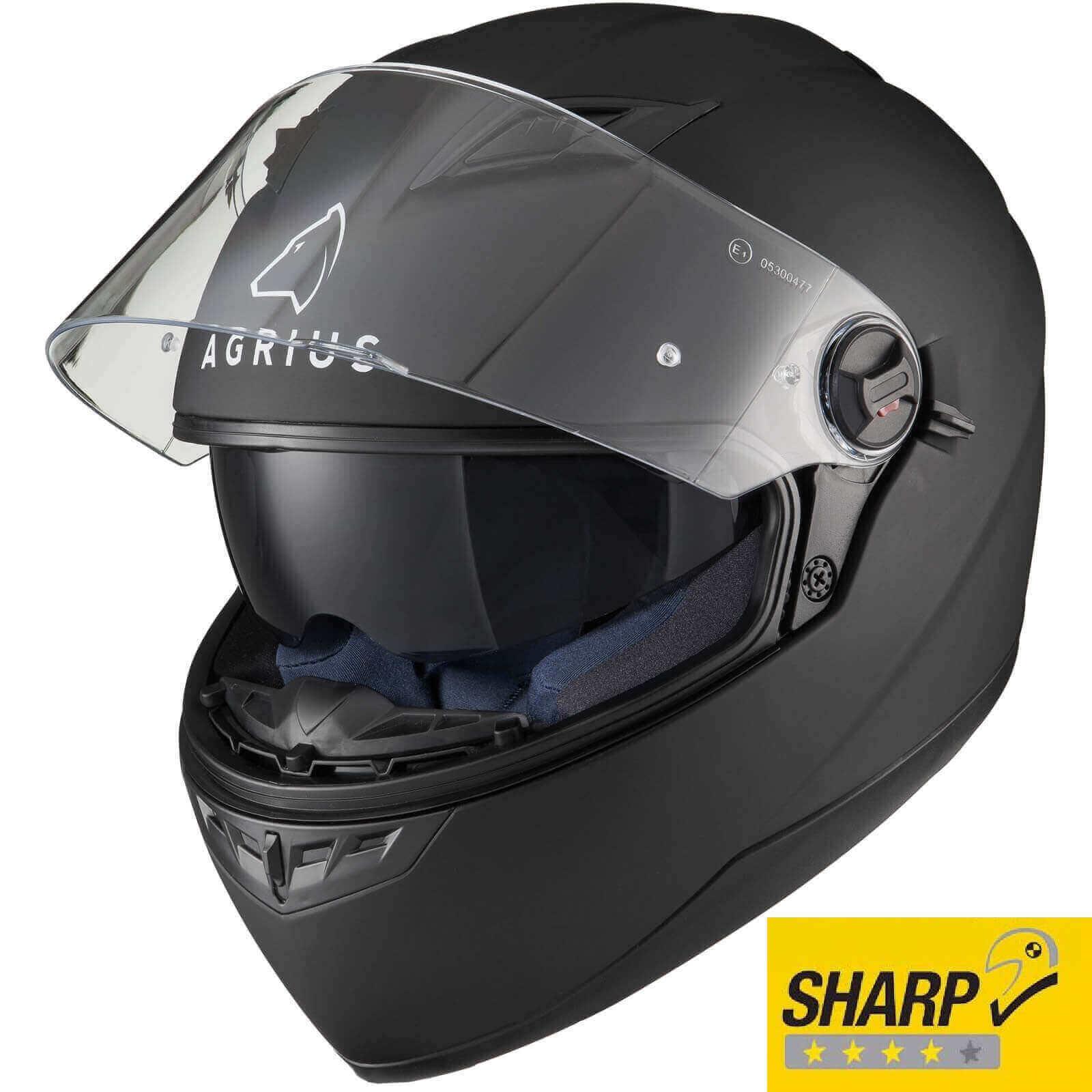 Casca Moto Agrius Rage SV - Negru Mat