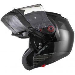 Casca moto flip up cu ochelari de soare si pinlock Black Optimus MAX SV