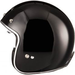 Casca moto open face deschisa cu ochelari soare - Black Classic