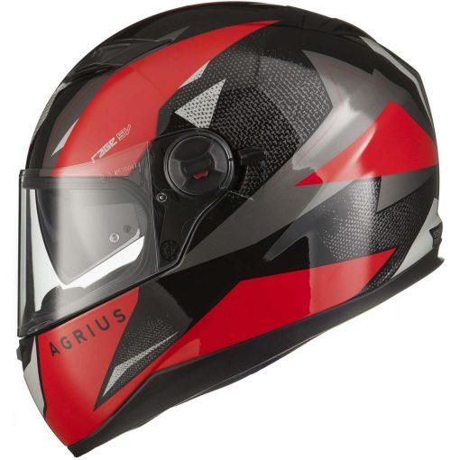 Casca Moto integrala full face cu ochelari de soare Agrius Rage SV Fusion
