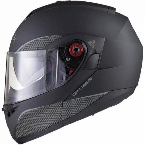 Casca mo o flip up Black OptimusCasca moto flip up cu ochelari de soare si pinlock Black Optimus MAX SV