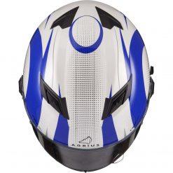 Casca moto cu ochelari de soare pinlock ready Agrius Warp albastru 1