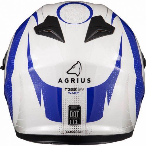 Casca moto cu ochelari de soare pinlock ready Agrius Warp albastru 8
