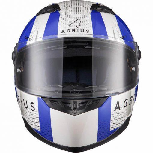 Casca moto cu ochelari de soare pinlock ready Agrius Warp albastru 6