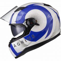 Casca moto cu ochelari de soare pinlock ready Agrius Warp albastru 7