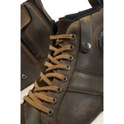 Ghete moto din piele cu protectii – Black Street Ankle