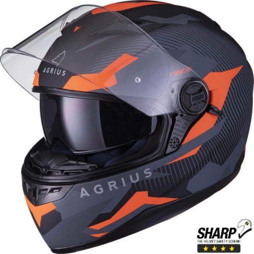 Casca Moto Agrius Tracker SV – Negru/Orange