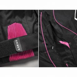 Geaca moto femei - cu protectii - Agrius Geini roz